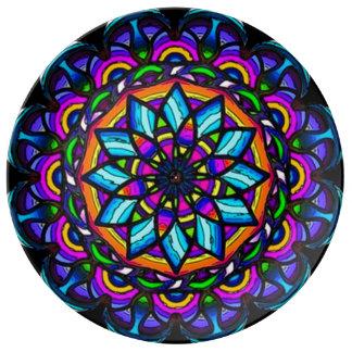 Astral Flower Healing Mandala Porcelain Plate