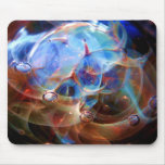 Astral Galaxy Orion's Belt Lampwork Glass Nebula Mouse Pad