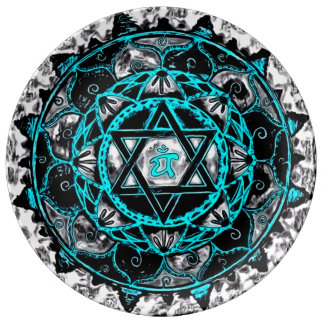 Astral Heart Healing Mandala Porcelain Plate