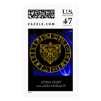 ASTRAL HEART POSTAGE STAMP