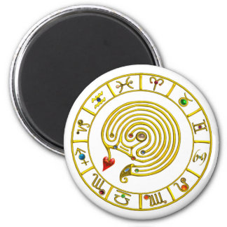ASTRAL LABYRINTH 2 INCH ROUND MAGNET