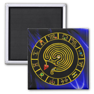 ASTRAL LABYRINTH 2 INCH SQUARE MAGNET