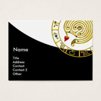 ASTRAL LABYRINTH,ASTROLOGY CHART Black White Business Card