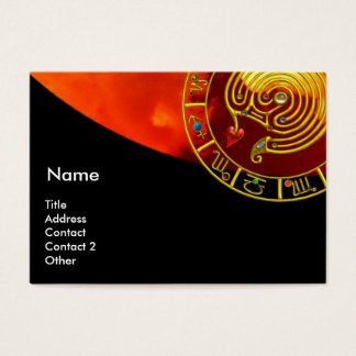ASTRAL LABYRINTH,ASTROLOGY ZODIAC SIGN CHART Black Business Card