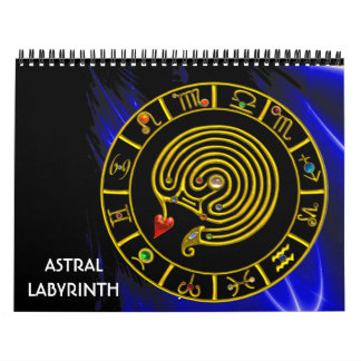 ASTRAL LABYRINTH , ASTROLOGY ,ZODIACAL SIGNS 2017 CALENDAR