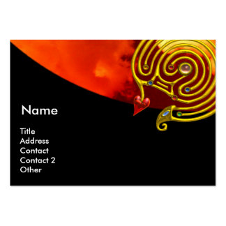 ASTRAL LABYRINTH , black red yellow clouds Large Business Cards (Pack Of 100)