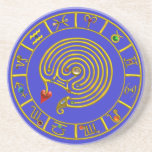ASTRAL LABYRINTH blue Beverage Coasters