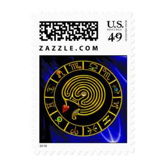 ASTRAL LABYRINTH ZODIAC SIGN CHART Astrology Postage