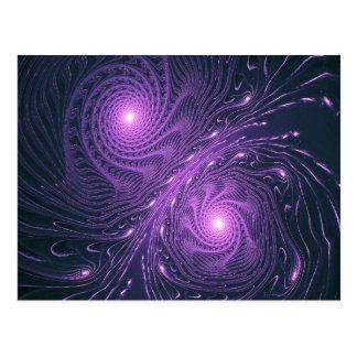 astral light forms postcard