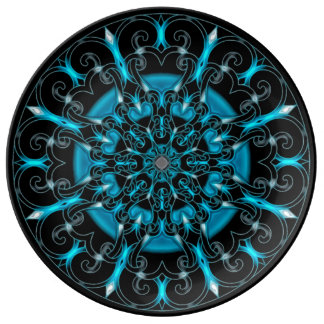 Astral Love Locator Mandala Porcelain Plate