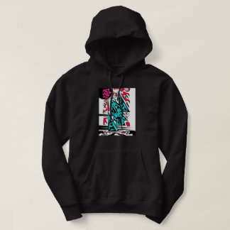 Astral Seal-Abstract Temple Hoodie-Black Hoodie