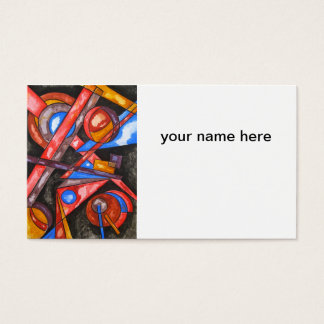 Astral Travel - Abstract Art Geometric Business Card