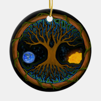 Astral Tree of Life Ceramic Ornament