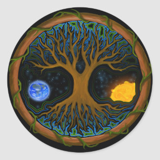 Astral Tree of Life Classic Round Sticker