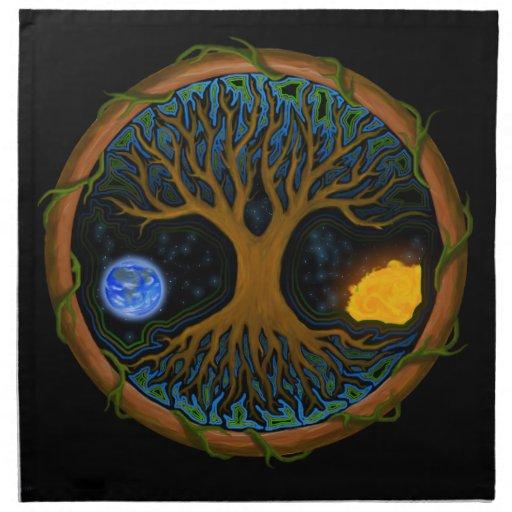 Astral Tree of Life Printed Napkins