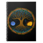 Astral Tree of Life Spiral Notebook