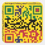 astrastudios QRcode Square Stickers