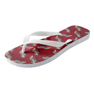 Astrid in Red Flip Flops