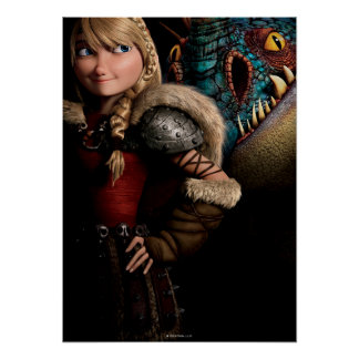 Astrid y Stormfly Póster