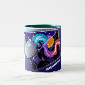 astro-aquarius Two-Tone coffee mug