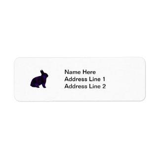Astro Bunny Return Address Label