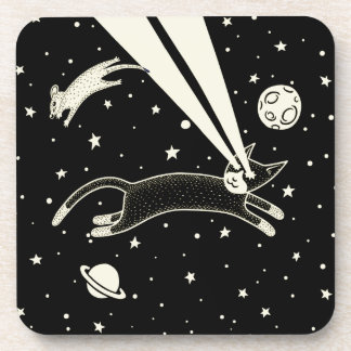 Astro Cat & Mouse Drink Coaster