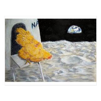 Astro Chicken Postcard