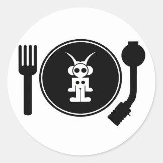 astro DJ Classic Round Sticker