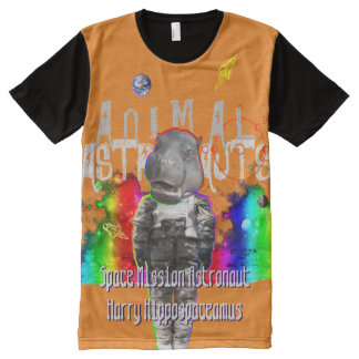 Astro Hippopotamus Spaceman All-Over-Print Shirt