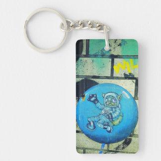 Astro Kitty Keychain