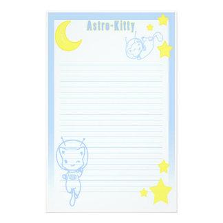 Astro Kitty Stationary Stationery Design