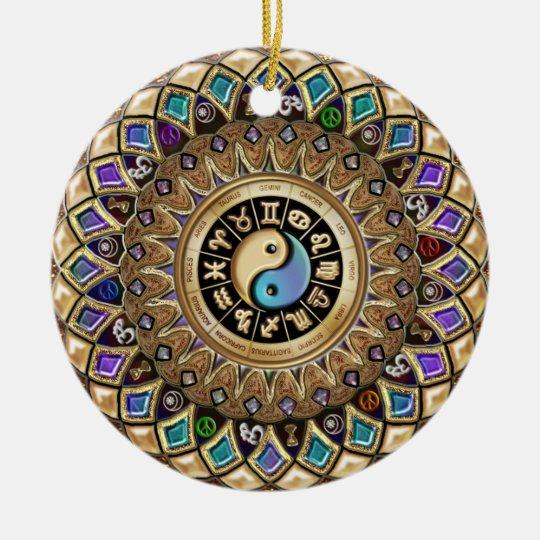 Astro Mandala Festive Christmas Holiday Ornament