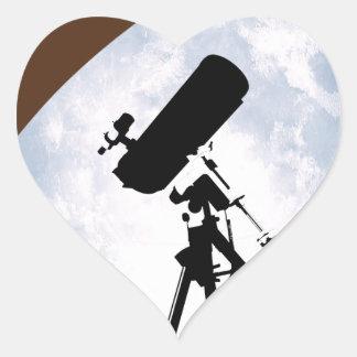 Astro-Nuez Pegatina En Forma De Corazón