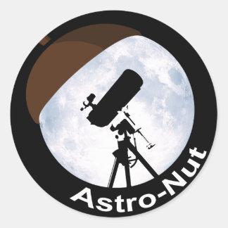 Astro-Nuez Pegatina Redonda