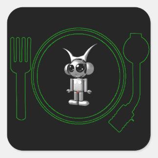 astro plate 3d 2011 square sticker