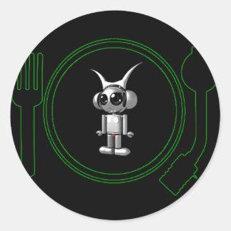 astro plate 3d classic round sticker