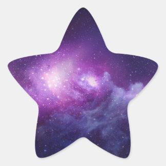 astro púrpura pegatina en forma de estrella