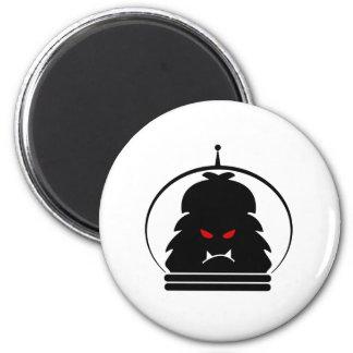 Astro Yeti Black w/ Red Eyes Magnet