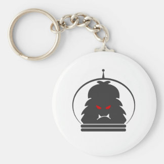 Astro Yeti Gray w/ Red Eyes Keychain