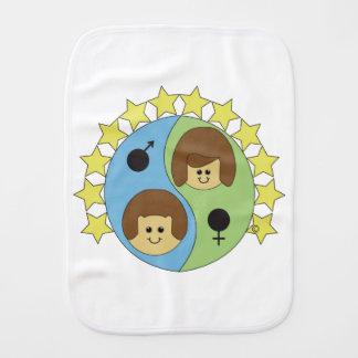 Astrobabies Gemini Burp Cloth