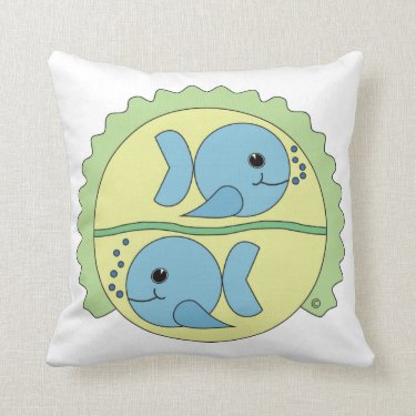 Astrobabies Pisces Throw Pillow