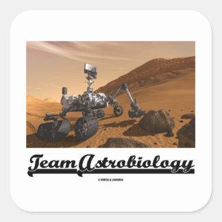 Astrobiology del equipo (la curiosidad Rover Marte Pegatina Cuadradas