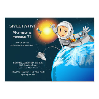 Astroboy Space Party Invitation