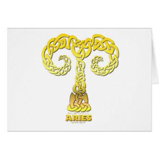 Astrocelt  series Aries Card
