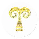 Astrocelt  series Aries Classic Round Sticker