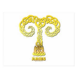 Astrocelt  series Aries Postcard