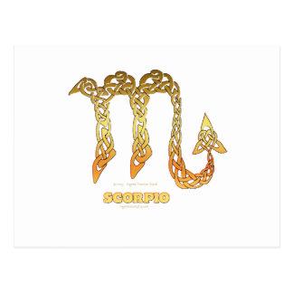 Astrocelt  series Scorpio Postcard