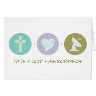 Astrofísica del amor de la fe tarjeta de felicitación