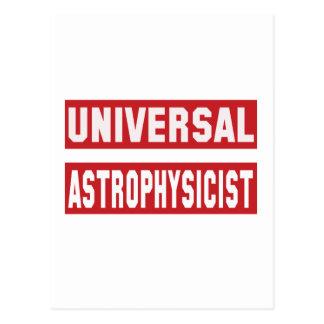 Astrofísico universal postales