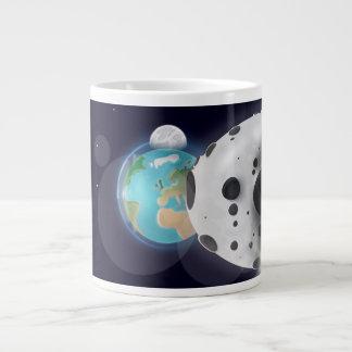 Astroid impact the Planet Earth! Large Coffee Mug
